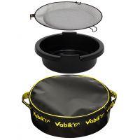 Комплект аксессуаров для прикормки Vabik ведро ПВХ+сито+таз