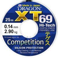 Леска DRAGON XT69 Hi-Tech COMPETITION 25 m 0.10 mm/1.60 kg голубая
