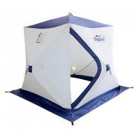 Палатка зимняя куб СЛЕДОПЫТ 2,1 х2,1 м, Oxford 210D PU 1000, 4-местная ,цв. бело-синий