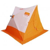 Палатка зимняя СЛЕДОПЫТ 2-скатная, Oxford 210D PU 1000, цв. бело-оранж.