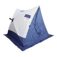 Палатка зимняя СЛЕДОПЫТ 2-скатная, Oxford 210D PU 1000, цв. бело-синий