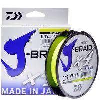 Плетенка Daiwa J-Braid X4 0,10mm 135m Yellow